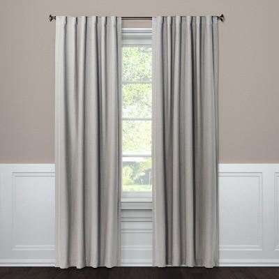 """50""""x84"""" Aruba Linen Blackout Curtain Panel Seagull - Threshold™"""