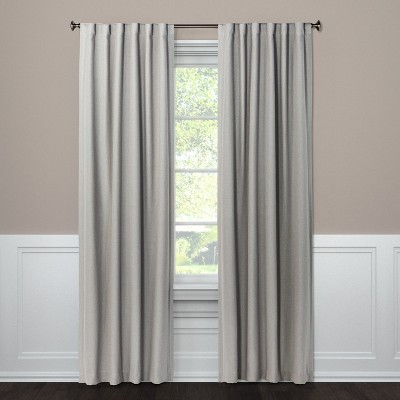 95 x50  Aruba Light Filtering Window Curtain Panel Gray - Threshold™