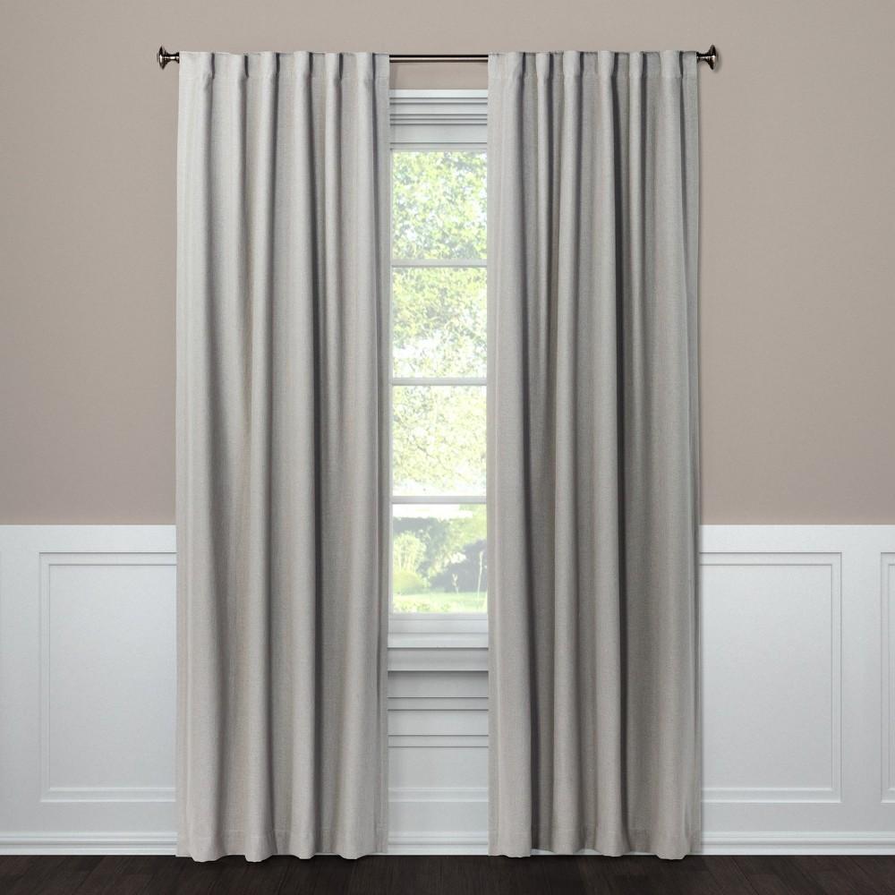 Blackout Curtain Panel Aruba Gray 108 - Threshold