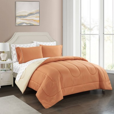 Roma Solid Reversible Bed in a Bag Comforter Set - Casa Couture