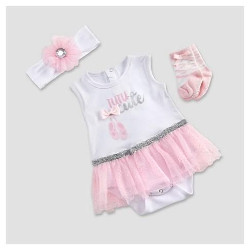 d482591f91447 Baby Aspen Girls' My First Ballerina 3c Tutu Outfit - 0-6M