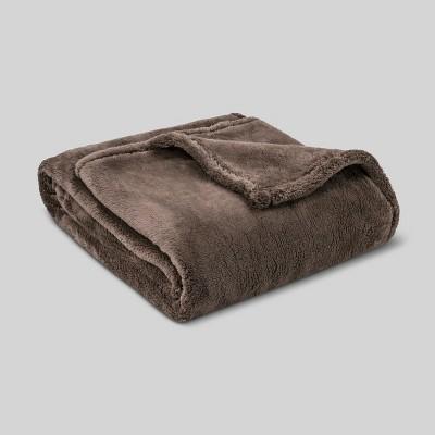Fuzzy Blanket Throw - Brown - Threshold™