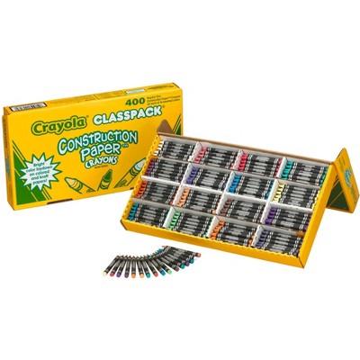 Crayola Construction Paper Crayon Classpack, 16 Assorted Colors, set of 400