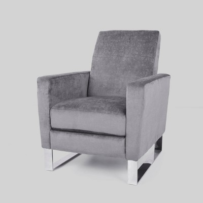 Brightwood Modern Push Back Recliner Gray - Christopher Knight Home