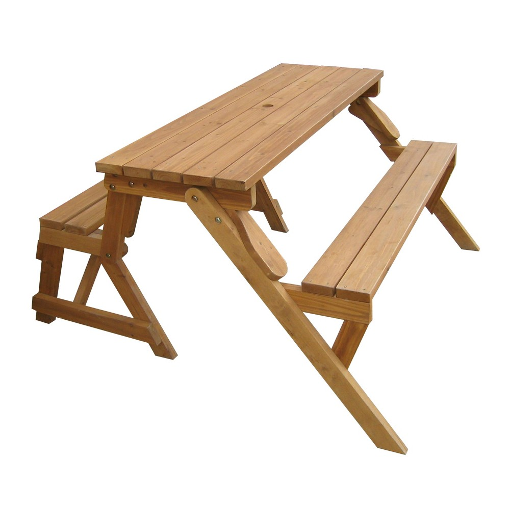 Image of Interchangeable Picnic Table / Garden Bench - Merry Products