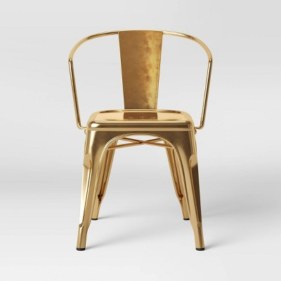 Carlisle Couture Metal Dining Chair Gold - ACEssentials