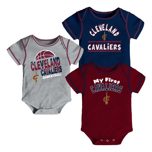 NBA Cleveland Cavaliers Boys' Rookie 3pk Body Suit Set - image 1 of 4