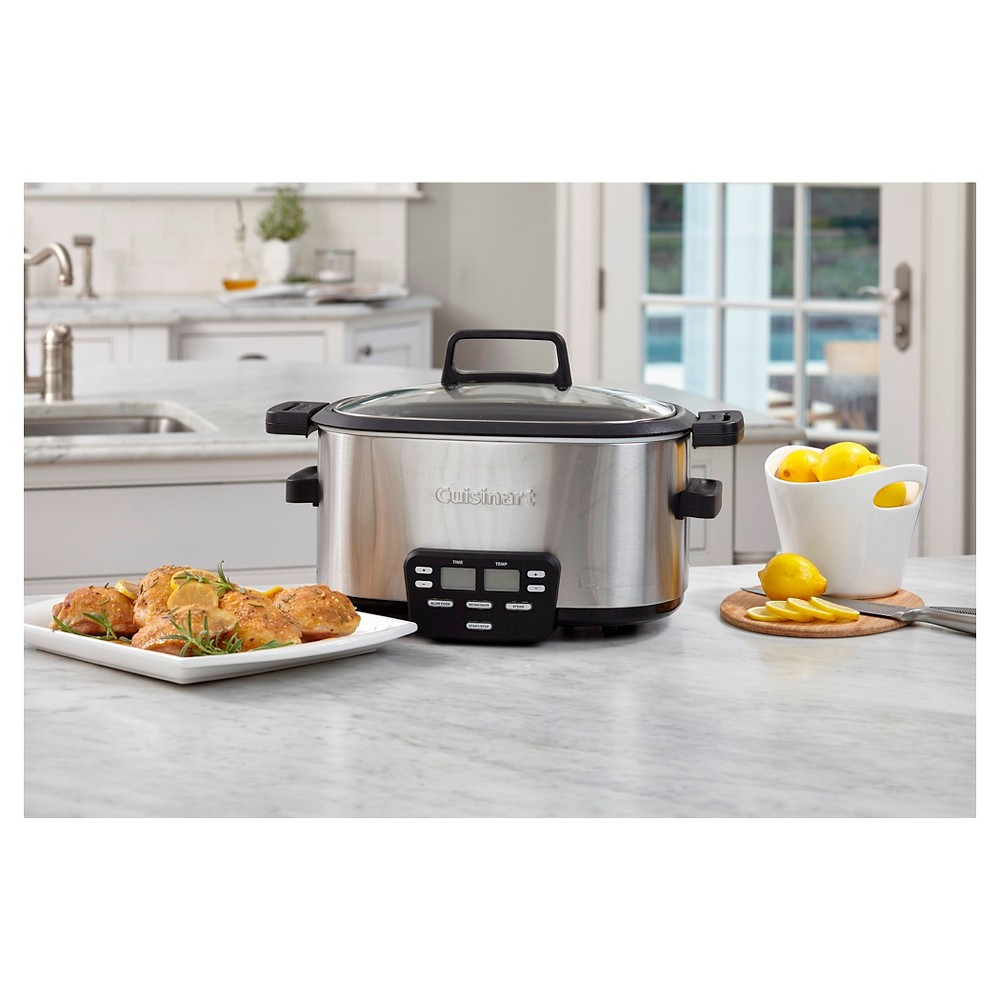 Cuisinart 6 Qt. Electric Multi-Cooker – Stainless Steel Msc-600, Silver 51221979