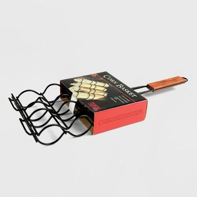 Charcoal Companion Grill Corn Basket - Black