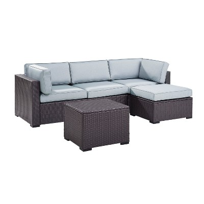 Biscayne 4pc All Weather Wicker Patio Seating Set   Crosley