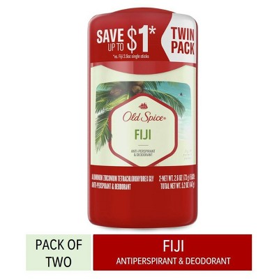Old Spice Invisible Solid Antiperspirant & Deodorant for Men Fiji with Palm Tree Scent Inspired by Nature - 2.6oz/2pk