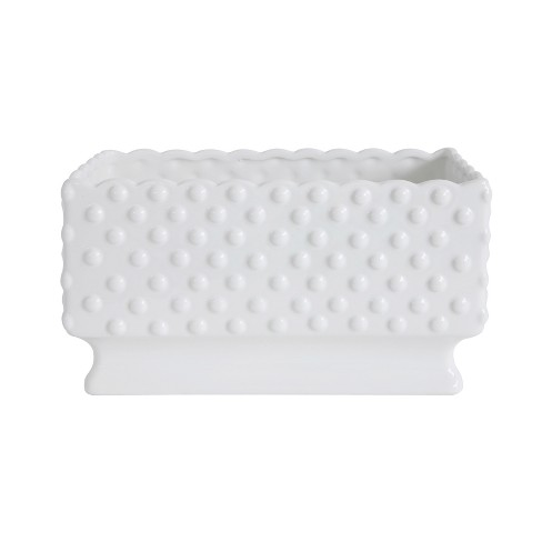 Ceramic Hobnail Planter - White - 3R Studios - image 1 of 3