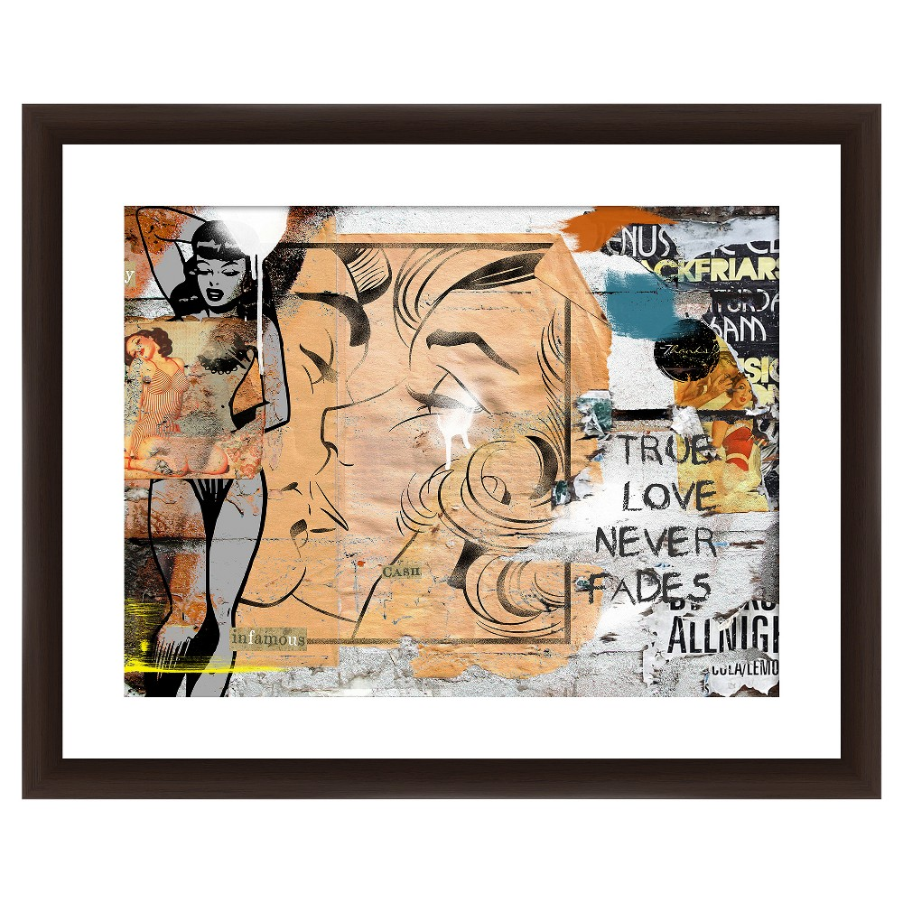 18 34 X 22 34 Matted To 2 34 True Love Never Fades Picture Framed Black Ptm Images