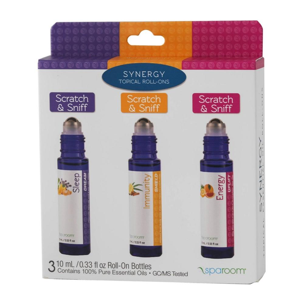 Image of .33fl oz 3pk Essential Oil Roll-On - Synergy - Sleep/Immunity/Energy - SpaRoom