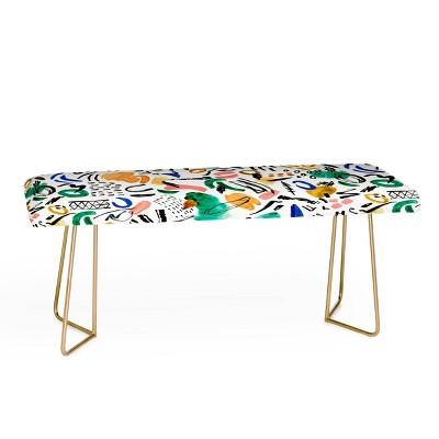 Marta Barragan Camarasa Brushstrokes Art Bench - Deny Designs