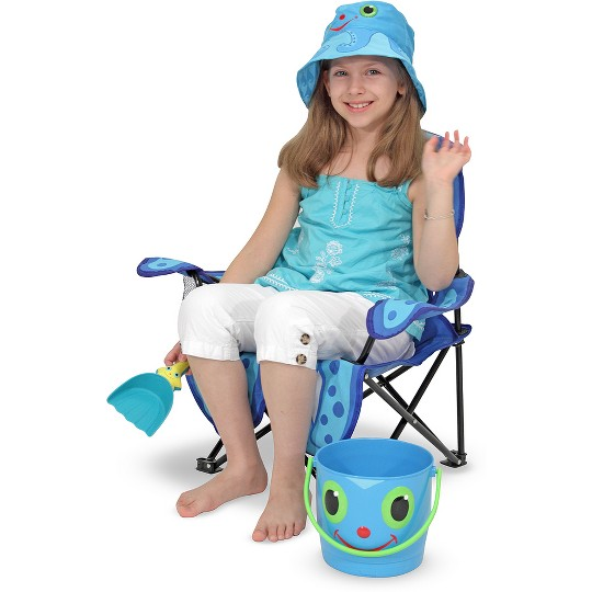 Melissa & Doug Sunny Patch Flex Octopus Folding Beach Chair with Carrying Case image number null