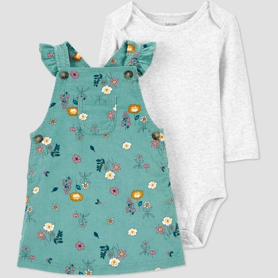 Baby Girls' 2pc Floral Top & Bottom Set - Just One You® made by carter's Green 3M
