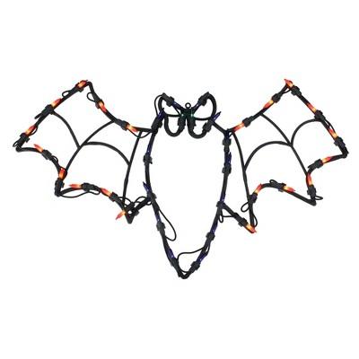 "Northlight 15"" Bat Halloween Window Silhouette Decoration - Orange/Blue"