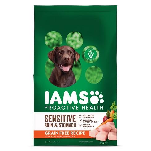 IAMS Proactive Health Sensitive Skin & Stomach Grain Free Chicken & Peas Dry Dog Food - image 1 of 4