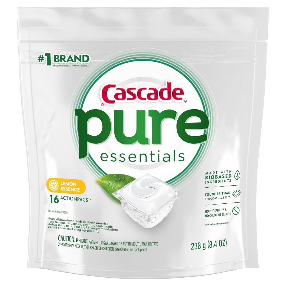 Cascade Lemon Pure Essentials Action Pacs - 16ct