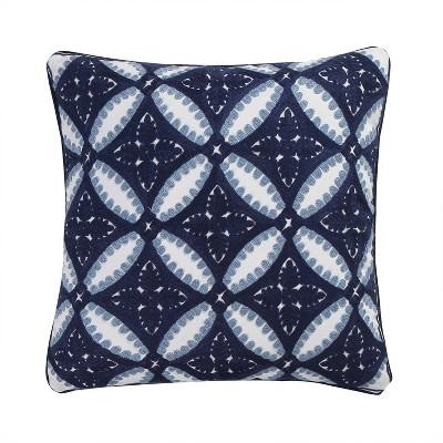 Valentina Crewel Embroidered Decorative Throw Pillow Navy - Homthreads