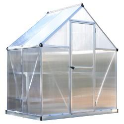 6'X4' Mythos Greenhouse - Silver - Palram