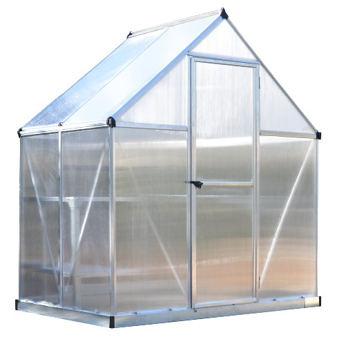 6'X4' Mythos Greenhouse - Silver - Palram - image 1 of 6