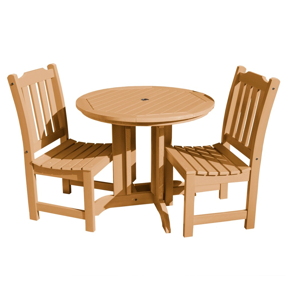 Lehigh 3pc Round Dining Set Toffee - Highwood