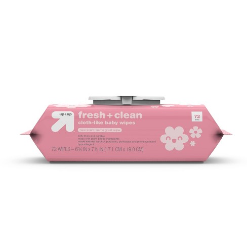 Fresh & Clean Baby Wipes - Up&Up™ (Select Count) - image 1 of 4