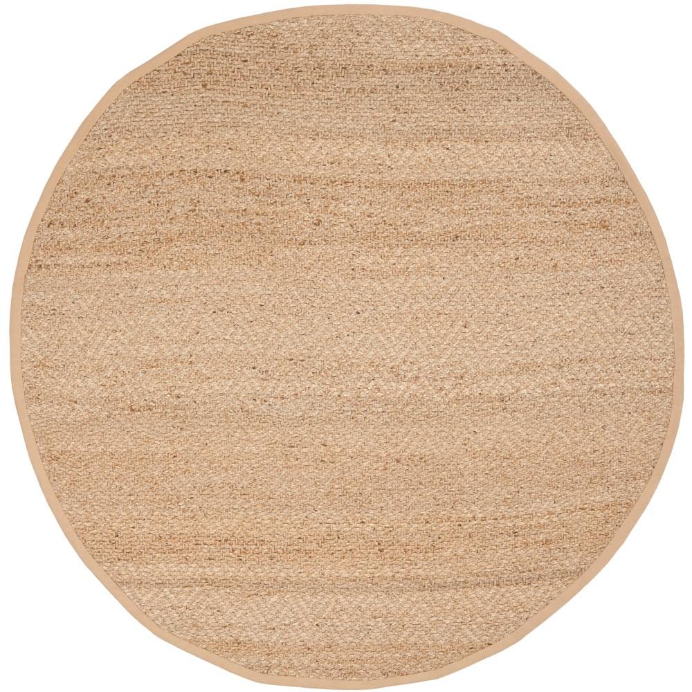 4 Solid Woven Round Area Rug Light Gray Safavieh