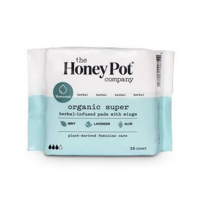 The Honey Pot Organic Cotton Herbal Super Pads - 16ct