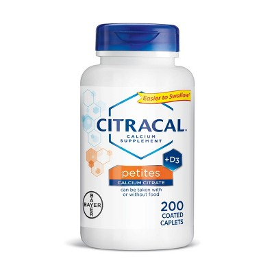 Citracal Petites Calcium & Vitamin D3 Dietary Supplement Tablets - 200ct