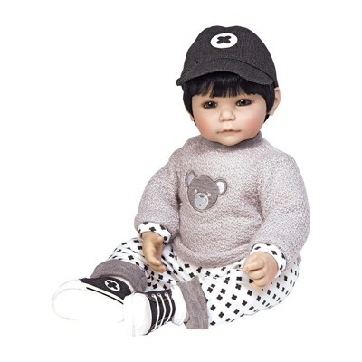Adora Toddler Doll Bubba Bear Boy Doll with appliqud Sweater, Patterned Pants and Black Sneakers, 20 inches