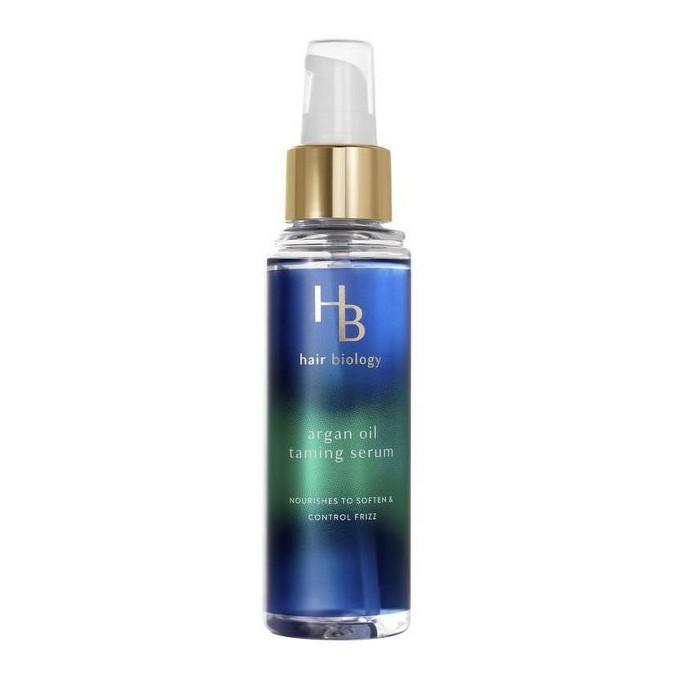 Hair Biology Argan Oil Taming Serum With Biotin For Dull Frizzy Or Dry Hair - 3.2 Fl Oz : Target