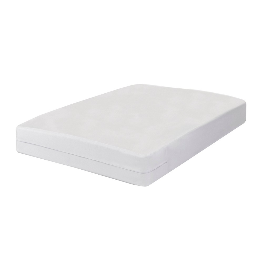 Image of California King Mattress Cover with Bug Blocker & Zipper - Fresh Ideas, White