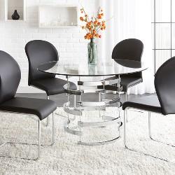 Tarik Round Dining Table Chrome - Steve Silver