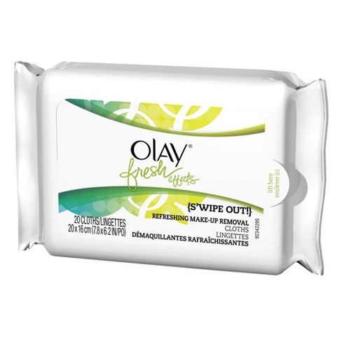 Olay Fresh Effects Swipe Out Make-up Remover Towelettes - 20 ct - image 1 of 1