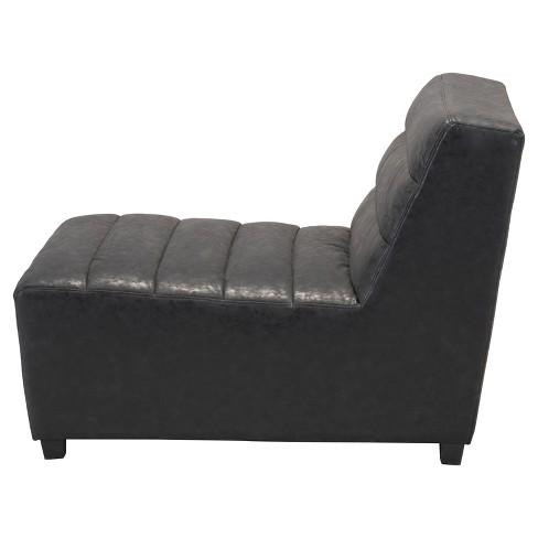 Retro Upholstered Single Chair - Vintage Black - Zm Home : Target on chaise furniture, chaise sofa sleeper, chaise recliner chair,