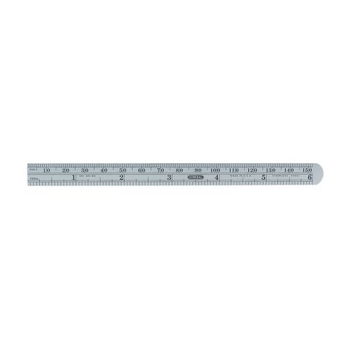 Flexible Steel Rule,6 In,5R Grad GENERAL CF645