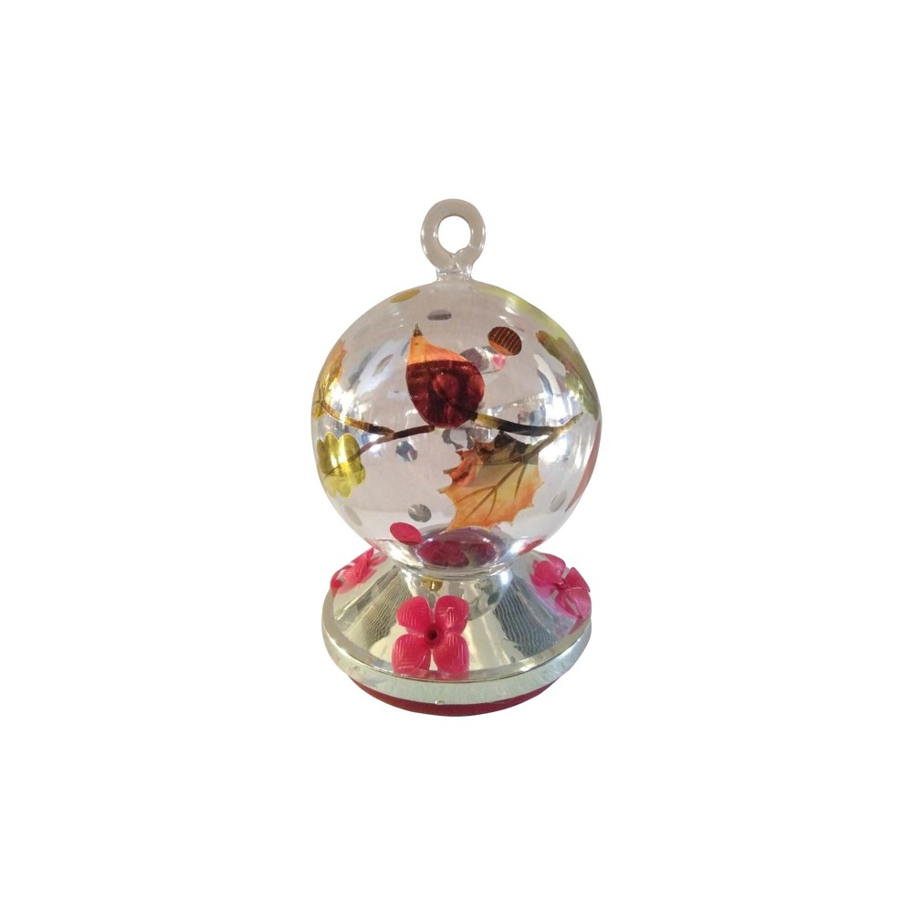 Image of 7.75 H Glass Bird Feeder - Creative Motion, Multi-Colored