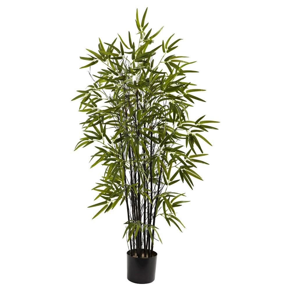 Nearly Natural 4 Black Bamboo Tree