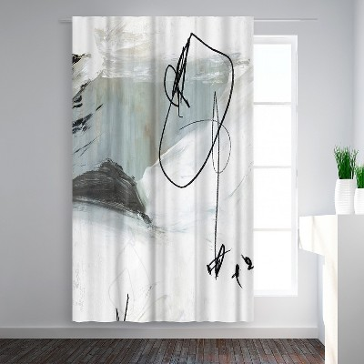 Americanflat Tied I by PI Creative Art Blackout Rod Pocket Single Curtain Panel 50x84