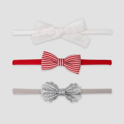 Baby Girls' 3pk Bow Headwrap - Just One You® made by carter's