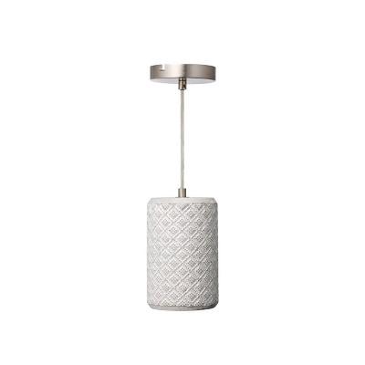 "8"" Pottery Perfect Diamond Weave Mini Pendant Concrete - Varaluz"