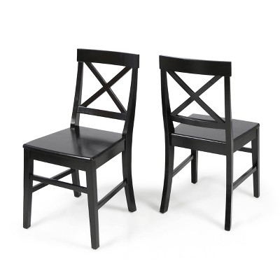 Set Of 2 Roshan Farmhouse Acacia Dining Chair - Christopher Knight Home : Target