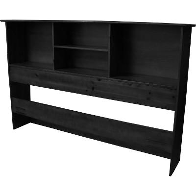 Gilbraltor Solid Bamboo Wood Bookcase - Style Headboard - Black Finish - King Size - Sit 'n Sleep