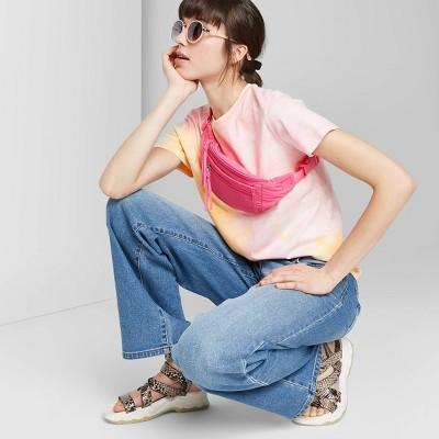 Women's Short Sleeve Tie-Dye T-Shirt - Wild Fable™ Pink