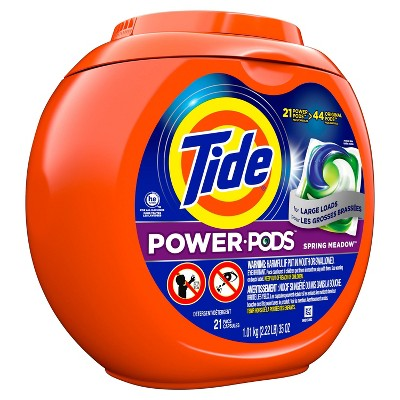 Tide Power Pods Spring Meadow Laundry Detergent Liquid Pacs Designed for Large Loads - 21ct