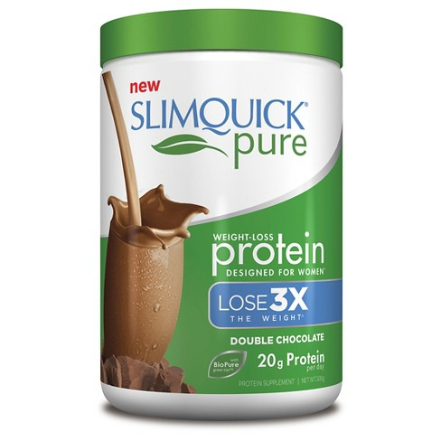 SlimQuick Pure Weight-Loss Protein Powder - Chocolate - 10.58oz - image 1 of 1