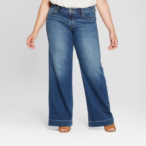b399507d27 Women s Plus Size Wide Leg Jeans - Universal Thread™ Medium Wash ...